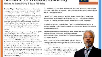 Photo of Profil Waytha Moorthy dalam dialog anjuran NICRE di UK calar imej Malaysia
