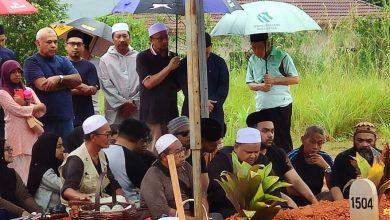 JENAZAH Kesuma Booty telah selamat disemadikan di Tanah Perkuburan Islam Klang Gate pagi tadi.