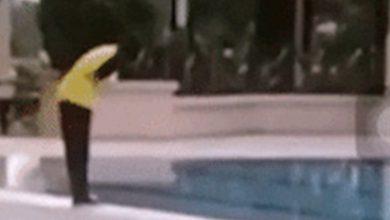 Photo of Ludah dalam kolam renang pangsapuri Cheras