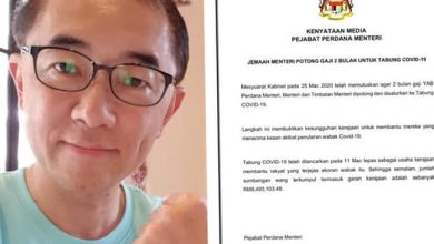Photo of Timbalan Menteri senang hati gaji dipotong untuk tabung  Covid-19