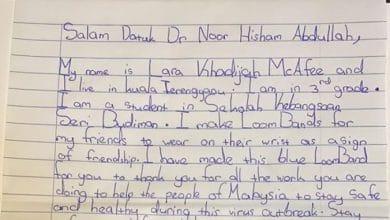 Photo of Walaupun sibuk, Dr. Noor Hisham balas surat kanak-kanak beri gelang getah