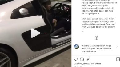 Photo of Ustaz Ebit Liew hadiah Audi R8 kepada isteri