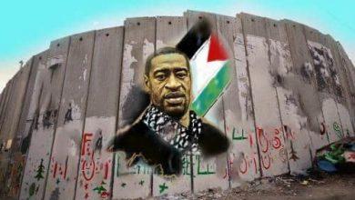Photo of Wajah mangsa perkauman Floyd diabadi pada tembok apartheid Israel